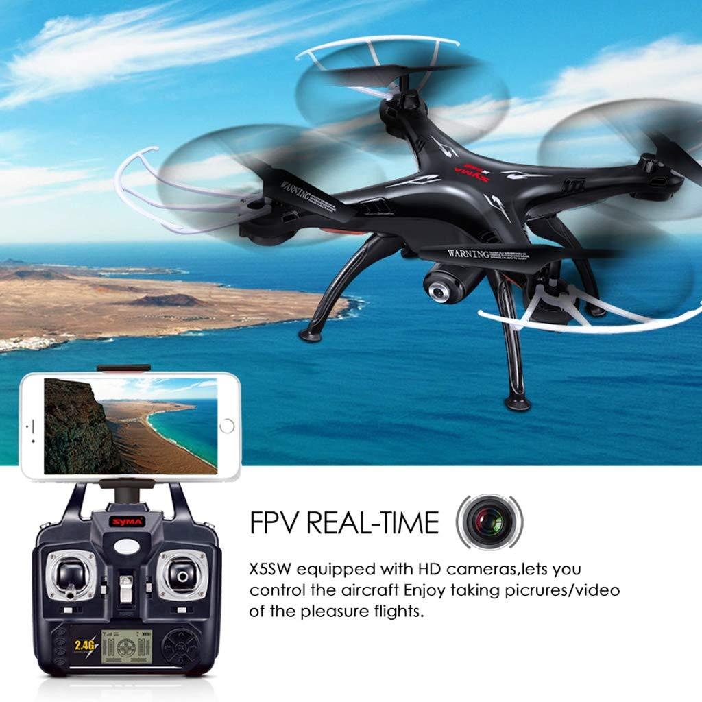 Drone FPV Drone, Syma X5SW WiFi 2.4 GHz 4 Canales 6 Ejes Gyro ...