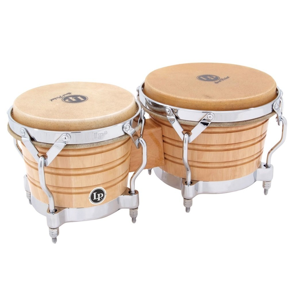 Latin Percussion LP201A-2 Bongo Drum Natural / Chrome