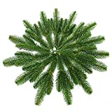 Yarssir 25pcs Artificial Greenery Pine Needle Garland Pine Picks Christmas Holiday Home Decor, 7x3 inches(Green-25 Pack)
