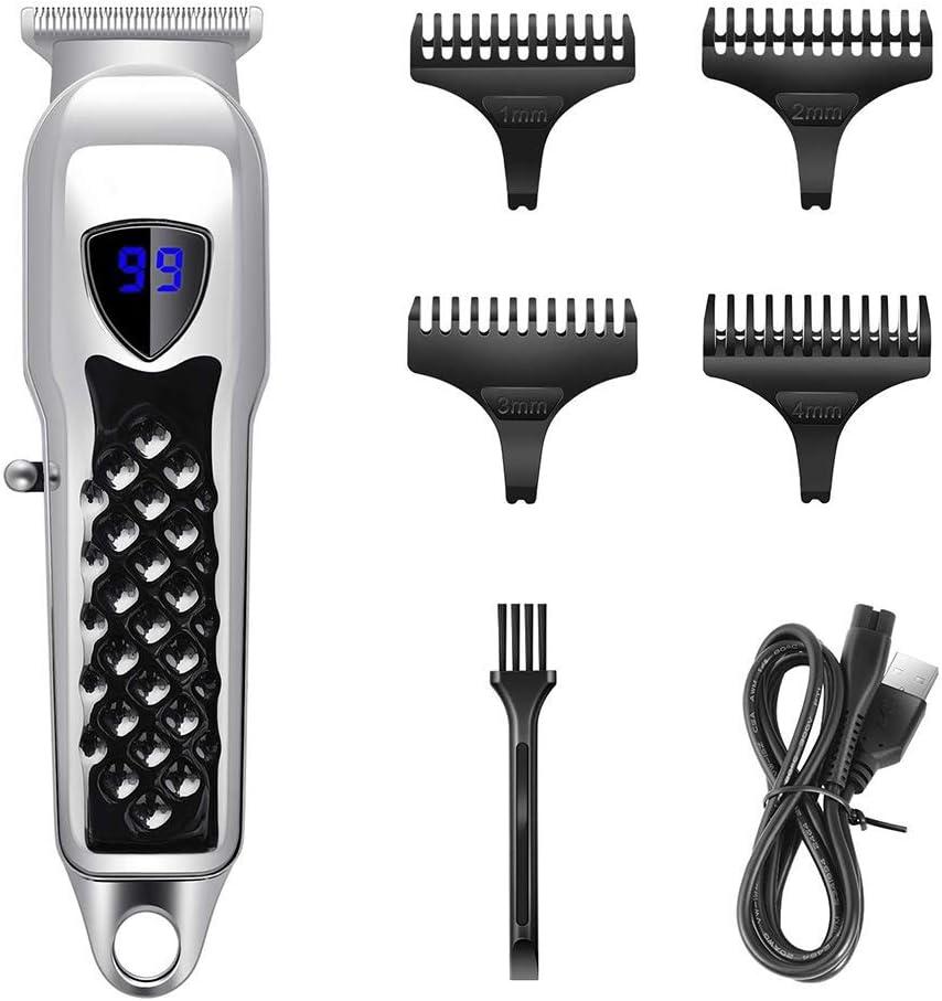 De Cortar el Pelo for los Hombres Pro Inalámbrico Pelo Trimmer Barba Trimmer máquina de Afeitar Recargable recortador de precisión DDLS