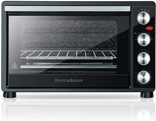 White and Brown mf550b - Horno multifunción de calor giratorio (55 ...