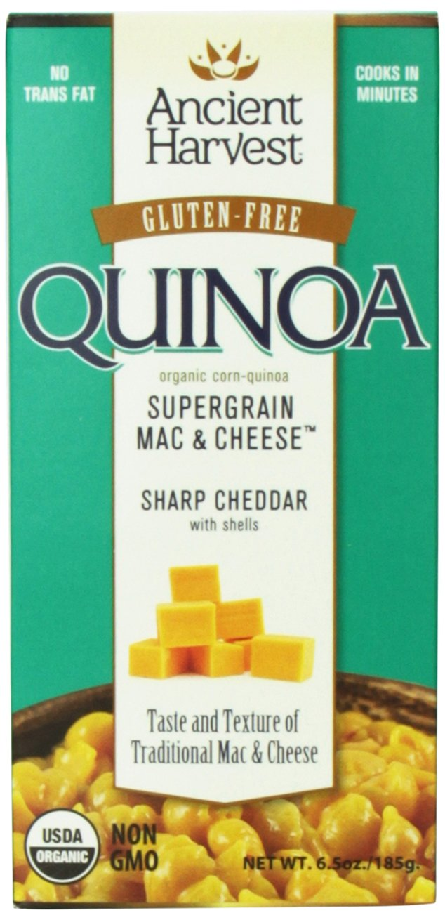Ancient Harvest Organic Gluten-Free Quinoa Supergrain Mac & Cheese, Sharp Cheddar Shells, 6.5 oz. Box (Pack of 12), A Rich and Creamy Take on the Old Favorite by Ancient Harvest