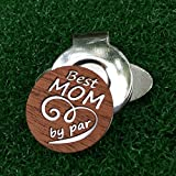 The Quintessential Hostess Best Mom by Par Engraved Golf Hat Clip and Ball Marker Mahogany Personalized