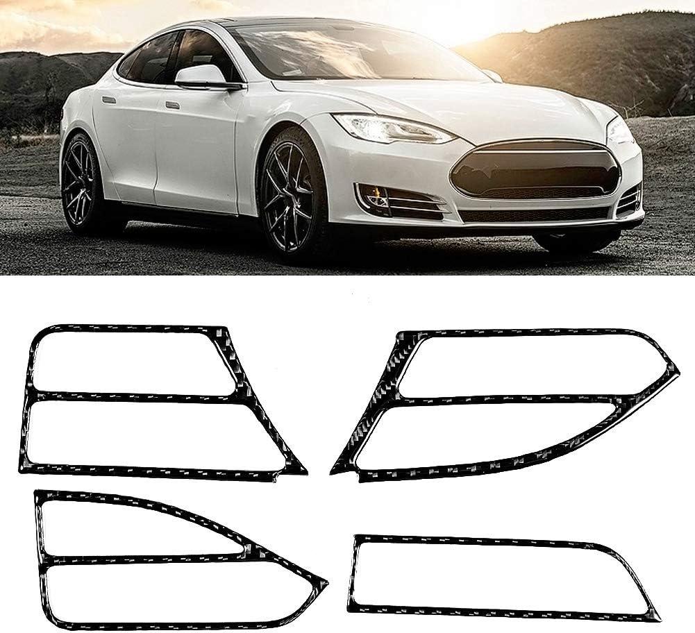 Car Vent Cover4 Pcs Left Driver Side Air Outlet Vent Trim Cover Set Carbon Fiber Air Vent Trim Fit for Tesla Model S X2014 2015 2016 2017 2018