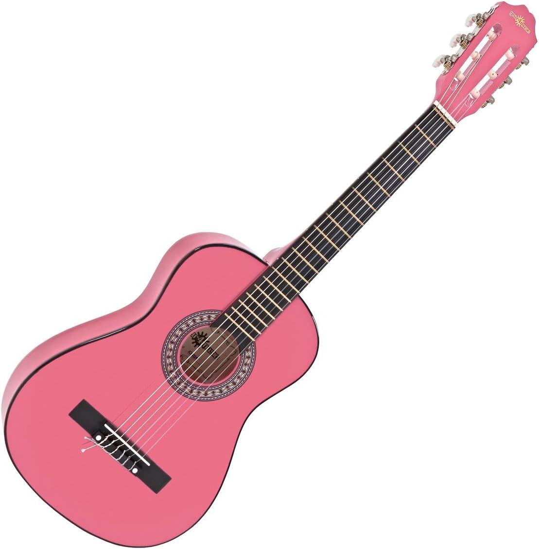Guitarra Espanola Junior de 1/2 de Gear4music Pink: Amazon.es ...