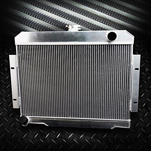 G-PLUS Full Aluminum Racing Radiator Stop Leak For 1972-1986 Jeep CJ5/CJ6/CJ7 3.8L 4.2L 5.6L Silver