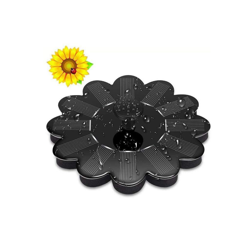 YaXuan Fuente de Agua Solar Bomba, jardín Piscina Estanque riego jardín al Aire Libre Miniatura Lotus Flotante Tipo Bombas de Agua para birdbath, Estanque, ...