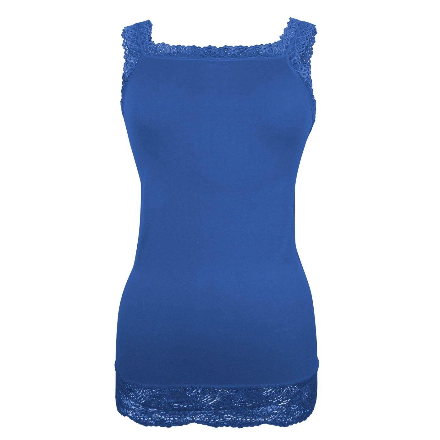 Canotta da Donna in Tinta Unita Intimo Shirt per Tutti i Giorni Glamexx24 Top da Donna con Pizzo