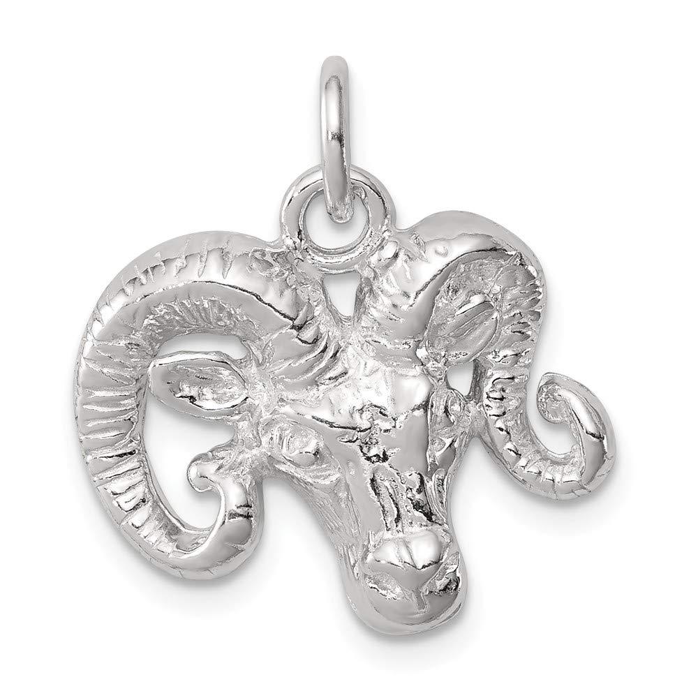 Mia Diamonds 925 Sterling Silver Solid Ram Charm 18mm x 19mm