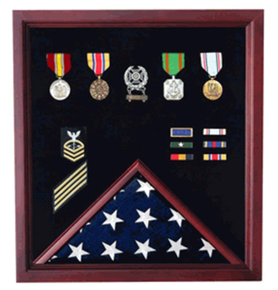 Amazon.com: Caja para medallas con diseño de bandera de ...