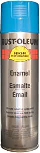 Rust-Oleum Corporation V2124838 High Performance Enamel Spray Paint-Safety Blue, 15-Ounce