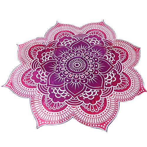 Eizur Mandala Wandbehang Strandtuch Lotus Form Beach Towel Zigeuner Überwurf Tischdecke Yoga-Matte Tagesdecke Reisetuch Decke Handtuch Picknickdecke Bademode Badeanzug (Grün / Rot / Blau)
