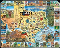 White Mountain Puzzles Best of Texas - 1000 Piece Jigsaw Puzzle