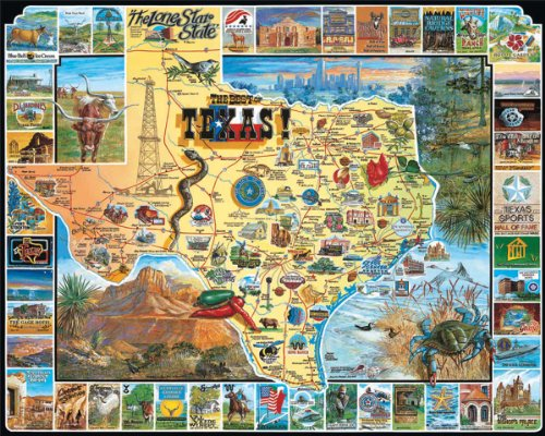 White Mountain Puzzles Best of Texas - 1000 Piece Jigsaw - Easy Potter Costumes To Make Harry
