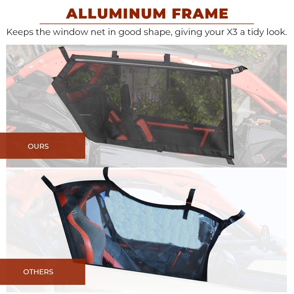 X3 Window Nets for 2017 2018 2019 2020 Can Am Maverick X3 /& X3 Max set of two 715004694