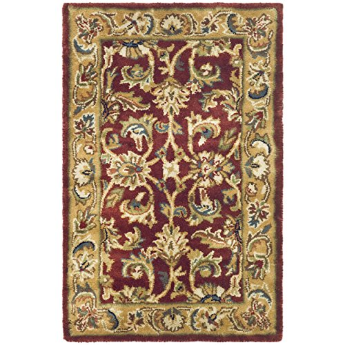 Safavieh Classic Collection CL758K Handmade Traditional Oriental Rust and Camel Wool Area Rug (2' x - Rust Camel