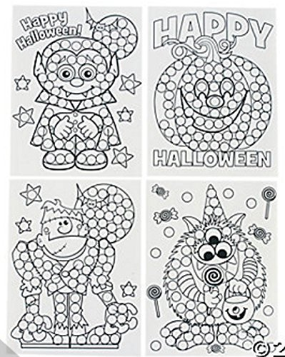 Paper Halloween Dot Activity Sheets (2 Dozen (Projects For Halloween For School)