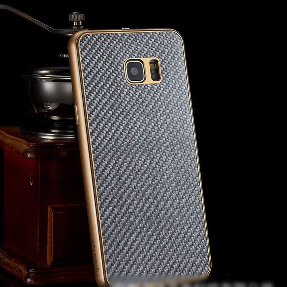 ACHAOHUIXI ファッションカーボンファイバー携帯電話ケースメタルシェルサムスンS6エッジ、S6エッジプラス、S7エッジ、S7、S7エッジ、S8、S8 PlusNote5、Note8用の新しい保護カバー電話ケース (Color : 暗灰色, Edition : Note8)