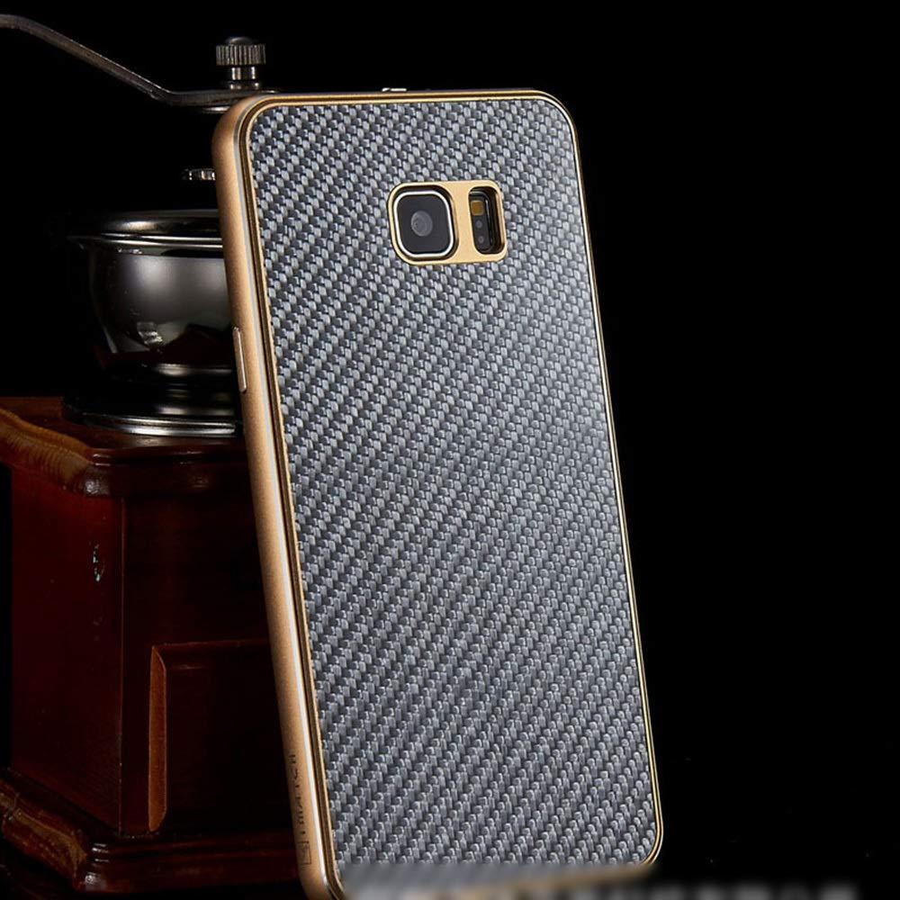 ACHAOHUIXI ファッションカーボンファイバー携帯電話ケースメタルシェルサムスンS6エッジ、S6エッジプラス、S7エッジ、S7、S7エッジ、S8、S8 PlusNote5、Note8用の新しい保護カバー電話ケース (Color : 暗灰色, Edition : S8)