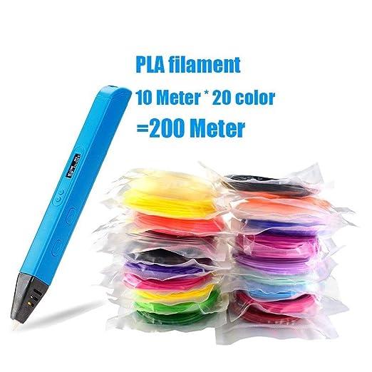H.Y.FFYH Imprimir Pen Impresora 3D Impresión Pluma con PLA ...