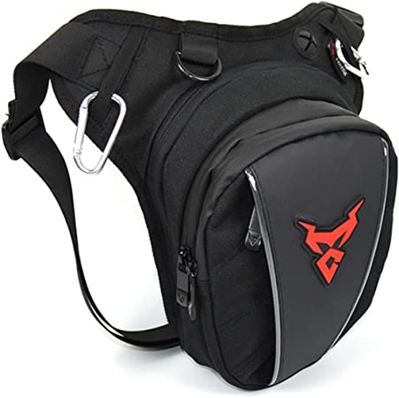 Outdoor Waist Pack Motorcycle Drop Leg Bag Waterproof Thigh Pouch Sport Expandable Backpack Multi Pocket(Red)