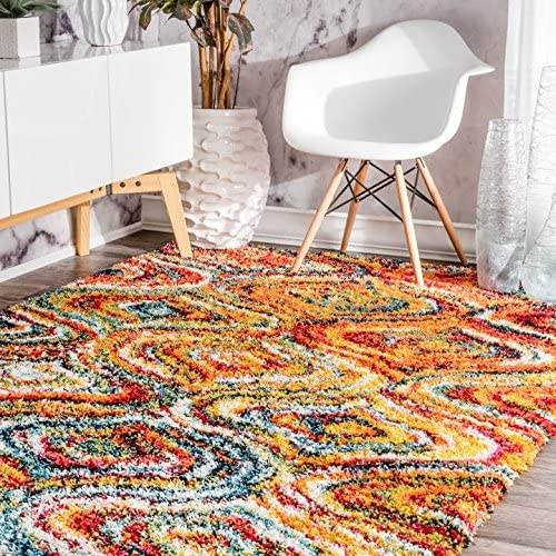 nuLOOM Rainbow Soft Plush Shag Area Rug