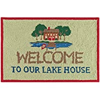 C&F Home Welcome to Our Lake House Hooked Rug, 2 x 3, Green