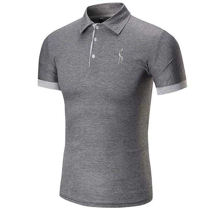Camiseta Camisa Premium De Verano para Hombre Camisa De Ropa Manga Corta Camisa con Cuello En