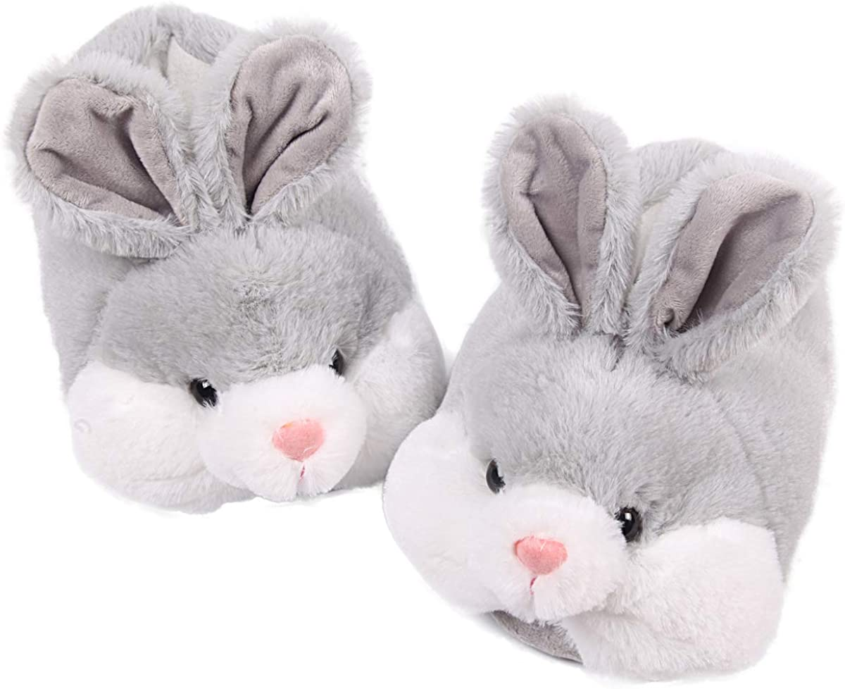 Caramella Bubble Classic Bunny Slippers for Women Funny Animal Slippers for Girls Cute Plush Rabbit Slippers