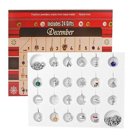 be79581a7097 D-FantiX Christmas Countdown Calendar 2018 Women Girls Jewelry Advent  Calendar DIY Bracelet Necklace 22