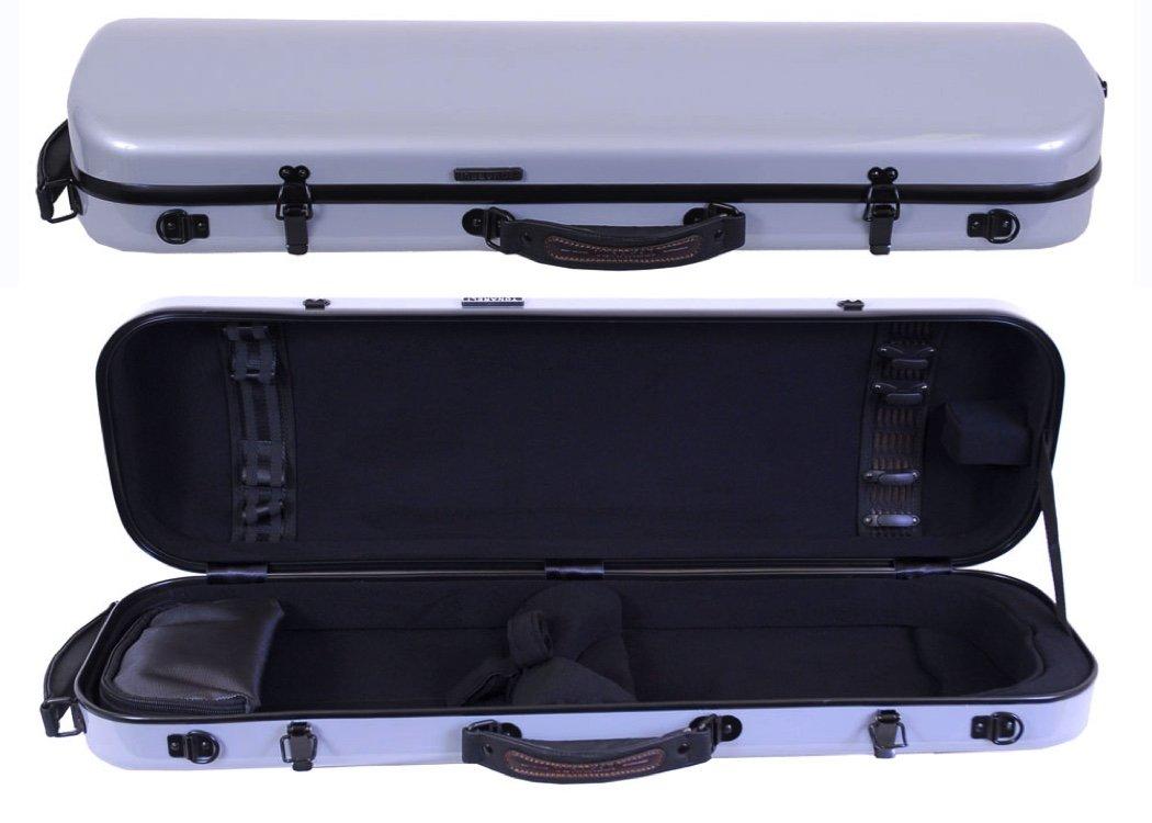 Tonareli Violin Oblong Fiberglass Case- Silver 4/4 VNFO 1001