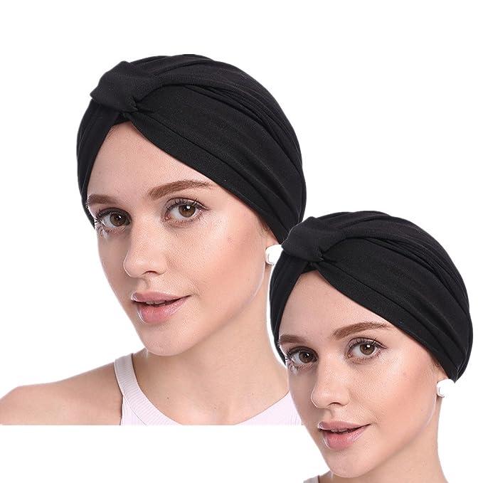 codici promozionali la scelta migliore grande qualità PassMe 2pcs Cappello Turbante Chemioterapia Donna Berretto per la ...