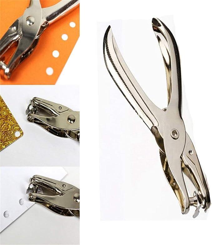 Aibecy Perforatore a pinza perforatore di carta a 6 fori punzonatore di metallo portatile capacit/à di 5 fogli 6mm per A4 A5 B5 Notebook Scrapbook Diario Planner