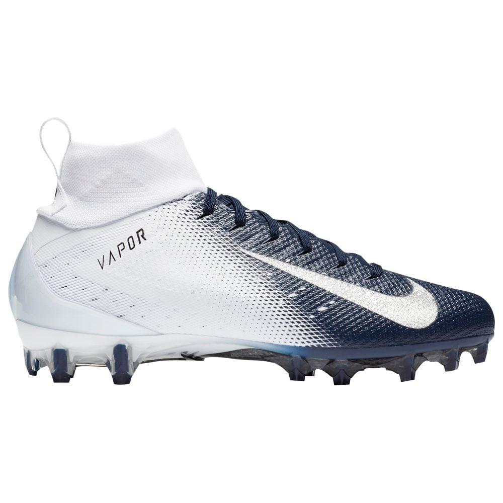 Nike Men's Vapor Untouchable 3 Pro Football Cleats (8, White/Navy)