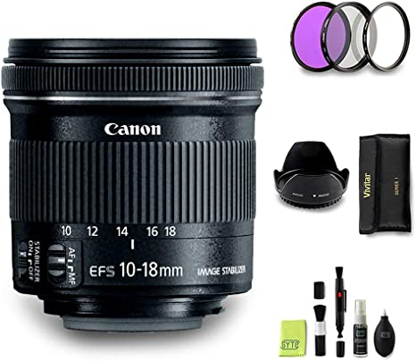 GYTE Bundle | Objetivo Canon - EF-S 10-18mm f/4,5-5,6 IS STM ...