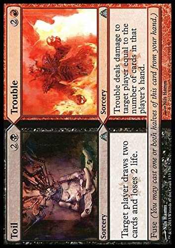 Magic The Gathering - Toil // Trouble - DragonS Maze - Foil by: Amazon.es: Juguetes y juegos