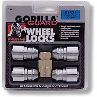 Gorilla Automotive, Tuercas de Seguridad para Llantas, Paquete de 4 Piezas, Cromado, 12-mm X 1.50