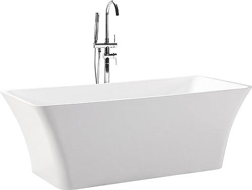 Kardiel HB-BT-PARVA-59 Parva Freestanding Acrylic Modern Bathtub, 59 , White