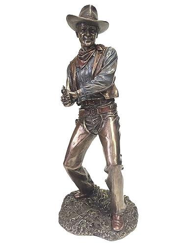 Cowboy Firing Pistol Statue Sculpture