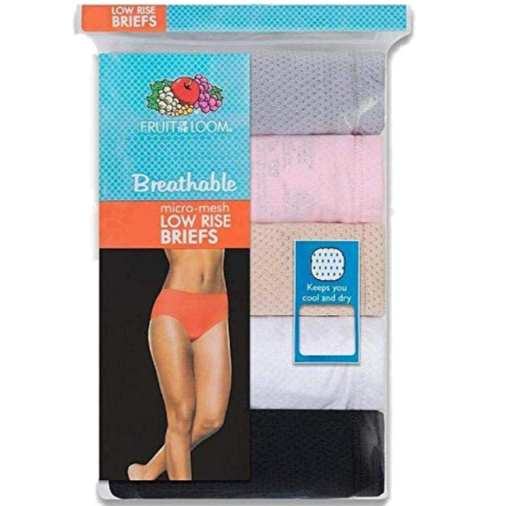 f56bb28968cb Fruit of the Loom Women's 4 Pack Breathable Low-Rise Brief Panties at  Amazon Women's Clothing store: