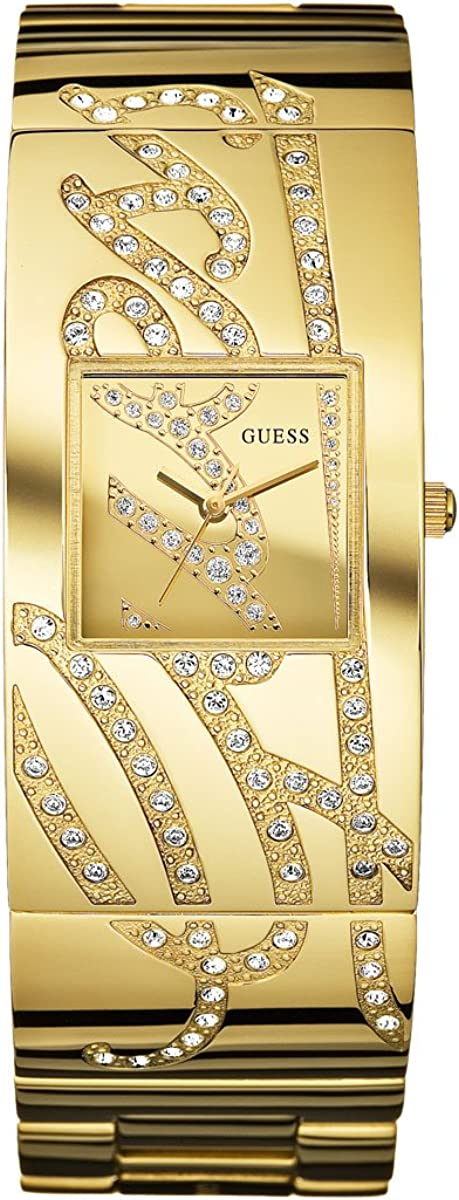 GUESS Women s W15052L1 Signature Goldtone Stainless Steel Goldtone Dial Watch