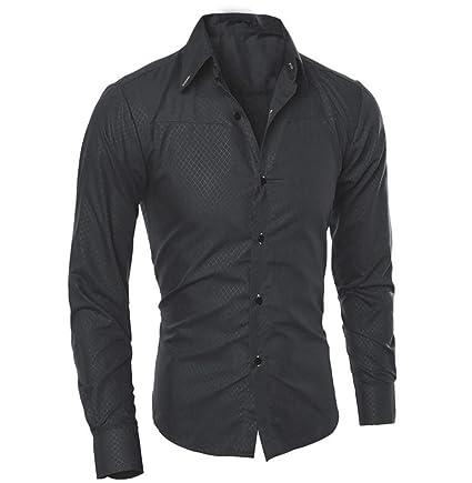 Tomatoa Männer Casual Langarmshirt Top Bluse Regular Fit