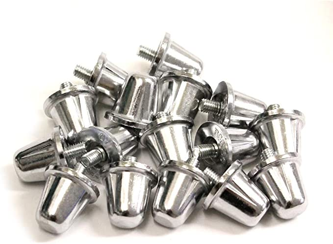 Sports Rugby Union Boot Aluminium Metal Screw Studs 15,18,21mm Set of 12 or 16