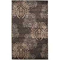Linon RUG-MN2623 Milan Collection Brown, 1.10 x 2.10