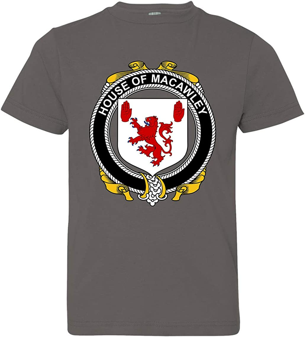 Tenacitee Boys Youth Irish House Heraldry Macawley T-Shirt