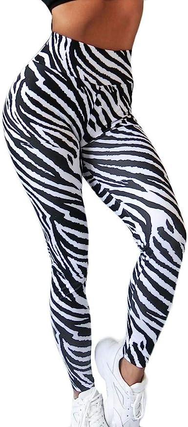 Leggings Mujer Fitness 2020 Shobdw Cintura Alta Legging Yoga Mujer Jacquard A Rayas De Cebra Pantalones De Yoga Para Correr A La Cadera Pantalones Chandal Mujer Baratos Amazon Es Ropa Y Accesorios