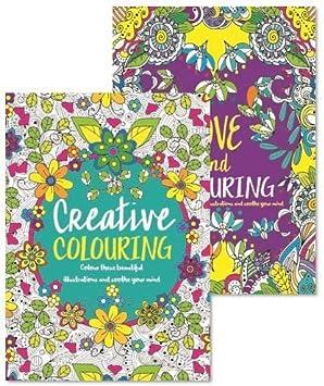 Coloriage Adulte Therapie.Lot De 2 Livres De Coloriage Adulte Anti Stress Couleur Therapie