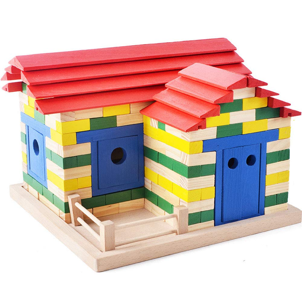 Canyixiu 木製パズル おもちゃ 子供用 組み立てブロック DIY おもちゃ 子供 クリエイティブ レンガ カラー ブロック 早期教育 子供 幼児用 Free size canyixiu Free size カラー B07QJ1MBP5