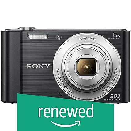 Renewed  Sony Cybershot DSC W810/B 20.1MP Digital Camera Memory Card 16 GB  Black  + Bag Point   Shoot Digital Cameras