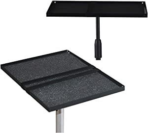 """Ratelu Projector Tray Platform Holder Pallet for Tripod Stand Mount 3/8"""" or 1/4"""" Screw Mountable for Projectors SLR laptops DJ Equipment Mixers Amplifiers Audio/Video Devices (Medium Size)"""